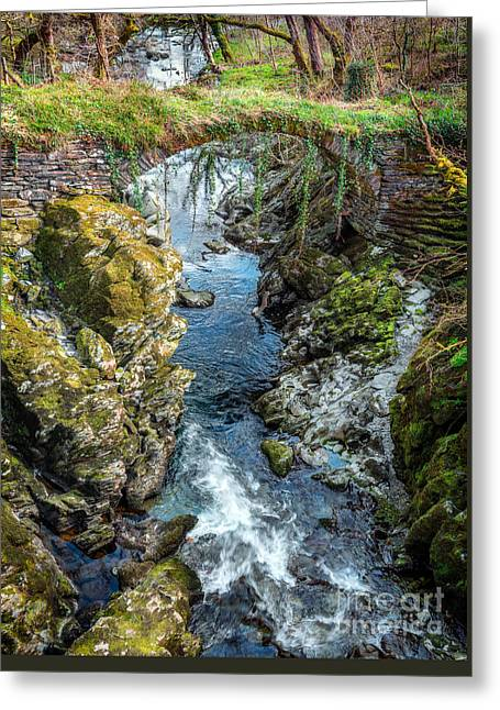 Roman Bridge Greeting Card by Adrian Evans