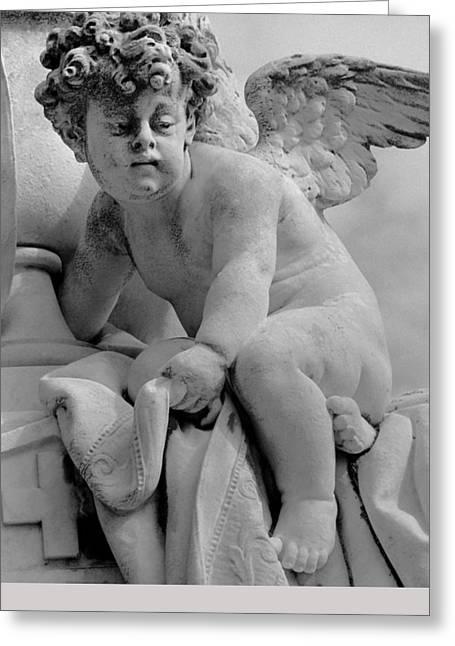 Cherubim Sculptures Greeting Cards - Roman Cherub Greeting Card by Dan Bernard