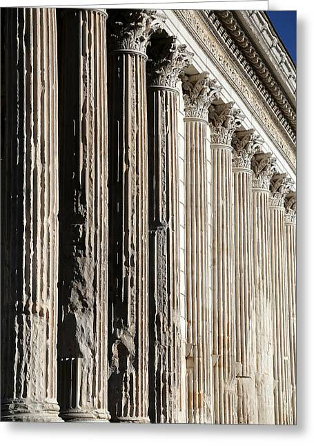 Roman Columns Greeting Cards - Roman Columns 1 Greeting Card by Andrew Fare