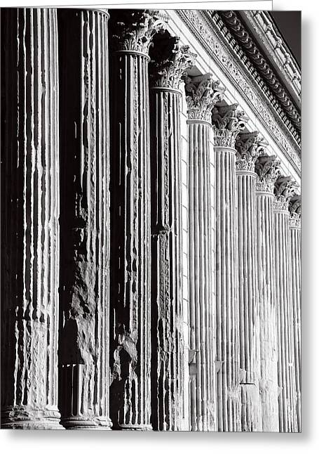 Roman Columns Greeting Cards - Roman Columns 1b Greeting Card by Andrew Fare