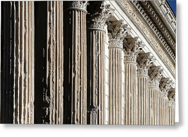 Roman Columns Greeting Cards - Roman Columns 2 Greeting Card by Andrew Fare