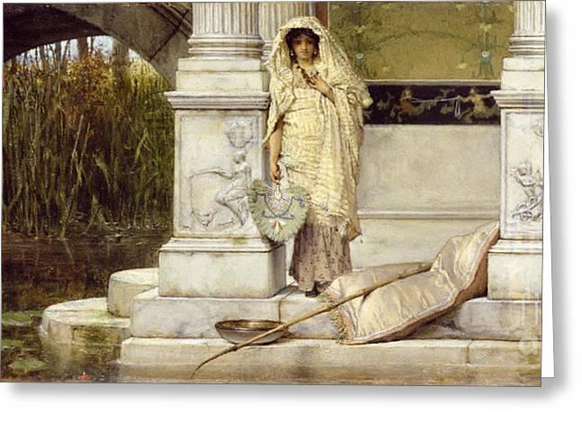 Roman Paintings Greeting Cards - Roman Fisher Girl Greeting Card by Sir Lawrence Alma-Tadema