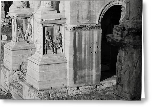 Roman Reliefs Greeting Cards - Detail from The Arch of Septimius Severus Greeting Card by Dan Bernard
