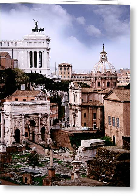 Tourist Site Greeting Cards - Roman Forum Greeting Card by Traveler Scout