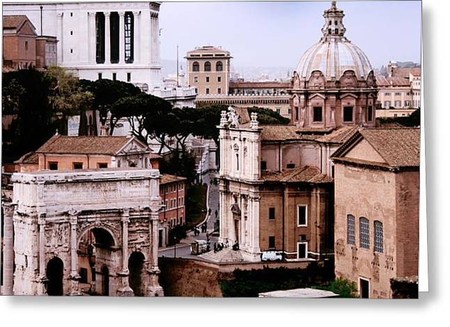 Roman Forum Greeting Card by Traveler Scout