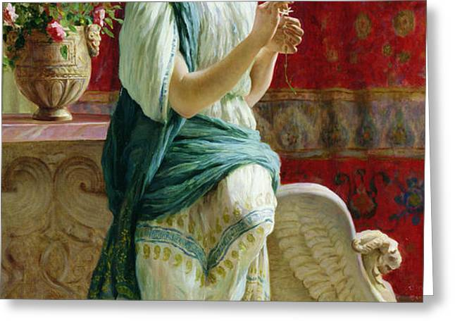 Roman Girl Greeting Card by Guglielmo Zocchi