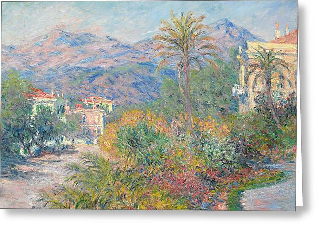 Impressionist Greeting Cards - Roman Road at Bordighera Greeting Card by Claude Monet