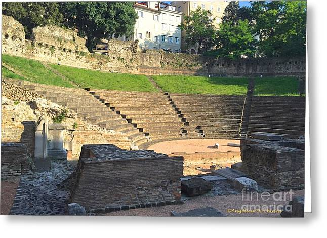 Theater Greeting Cards - Roman Theater Greeting Card by Italian Art