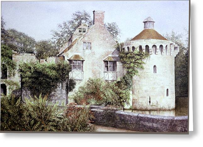 Historical Buildings Pastels Greeting Cards - Romance In Ruin Greeting Card by Rosemary Colyer