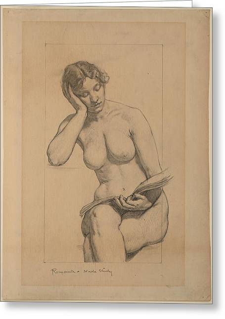 Kenyon Greeting Cards - Romance - Nude Study Greeting Card by Kenyon Cox