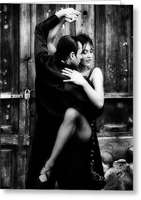 Romance Of The Tango Greeting Card by Mountain Dreams