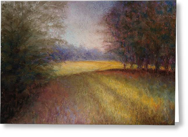 Lanscape Paintings Greeting Cards - Romance Trail Greeting Card by Susan Jenkins
