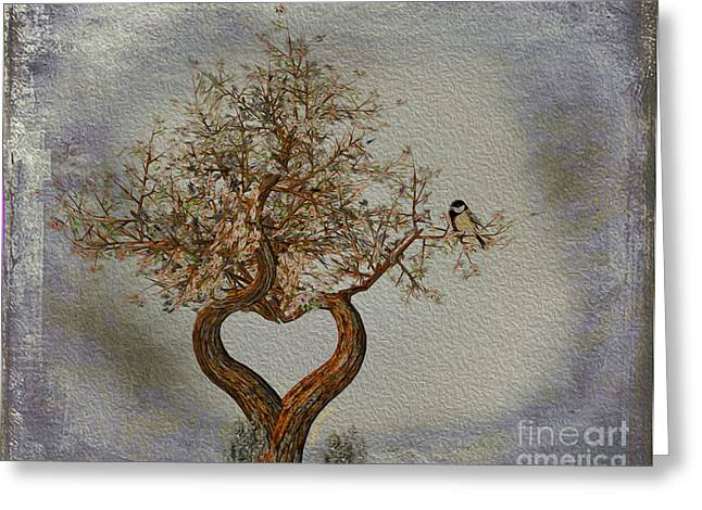 Romance Tree Greeting Card by Cheryl Young