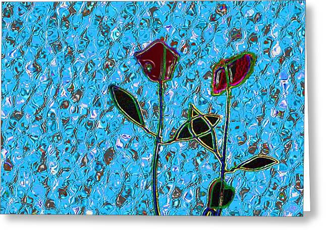 Romancing The Rose Greeting Card by Morgan Rex