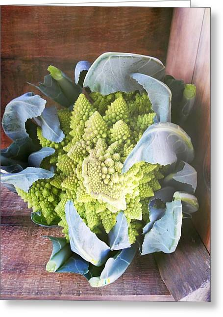 Broccoli Greeting Cards - Romanesco Broccoli Greeting Card by Jane MacKugler