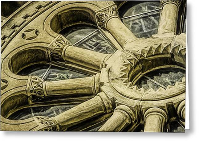 Romanesque Wheel Greeting Card by Scott Norris