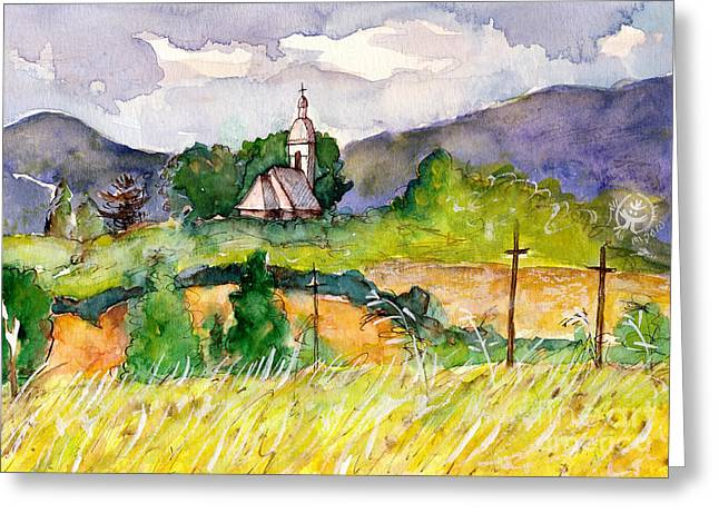 Ion Greeting Cards - Romanian Landscape Mtii Apuseni Greeting Card by Ion Danu