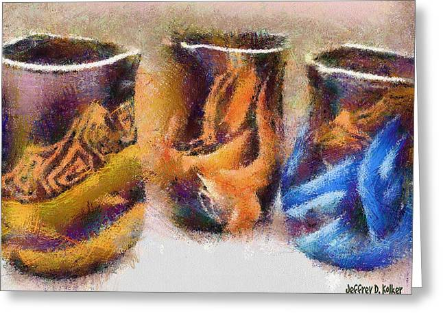 European Artwork Greeting Cards - Romanian Vases Greeting Card by Jeff Kolker
