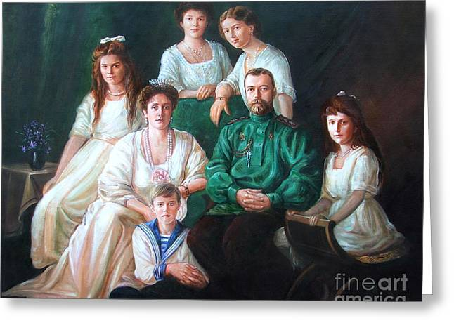 Recently Sold -  - Nicholas Greeting Cards - Romanov family portrait Greeting Card by George Alexander