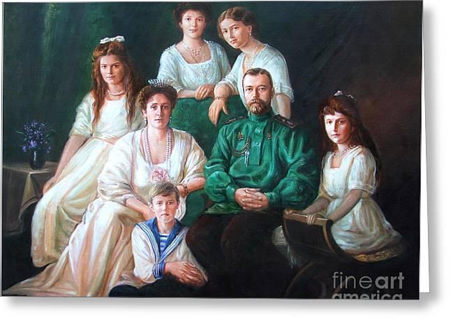 Romanov Family Portrait Greeting Card by George Alexander