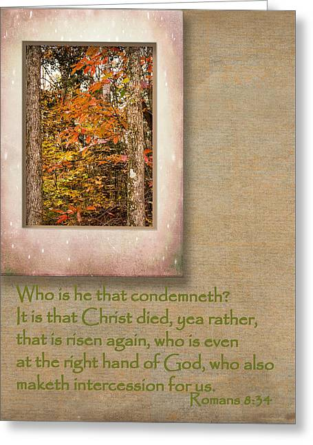 Bible Greeting Cards - Romans Comfort Series I X Greeting Card by Larry Bishop