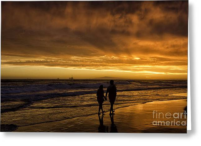 Holden Beach Greeting Cards - Romantic Couple Greeting Card by Peter Dang