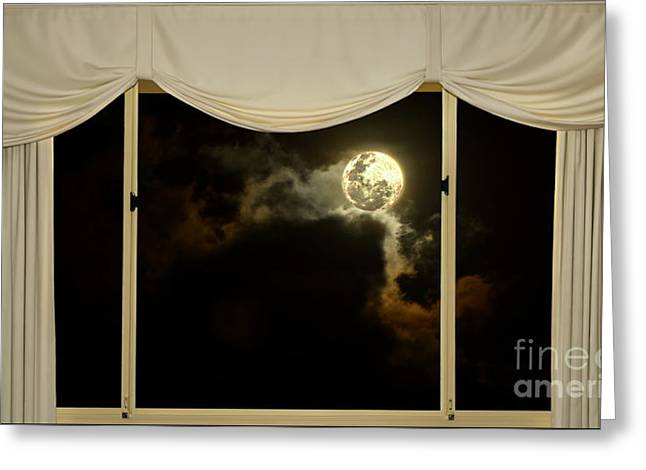 Selenic Greeting Cards - Romantic Evening at Home by Kaye Menner Greeting Card by Kaye Menner