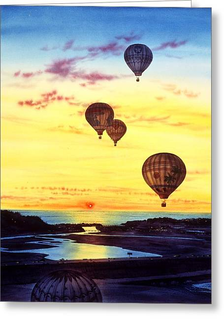 Most Greeting Cards - Romantic Flight Greeting Card by John YATO