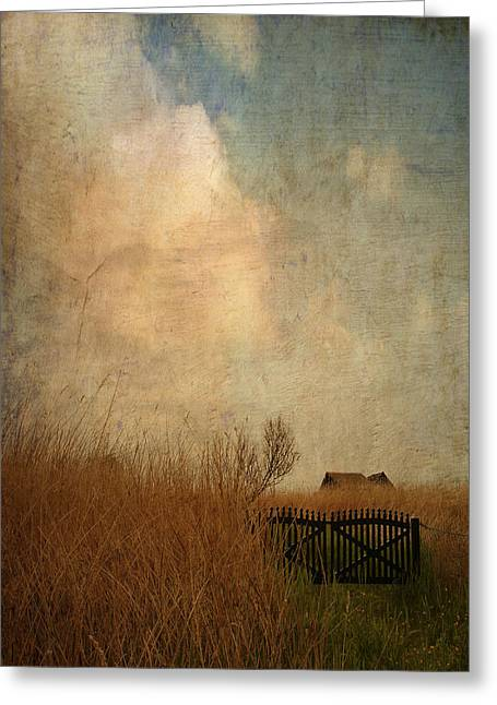 Summer Storm Greeting Cards - Romantic House Greeting Card by Heike Hultsch