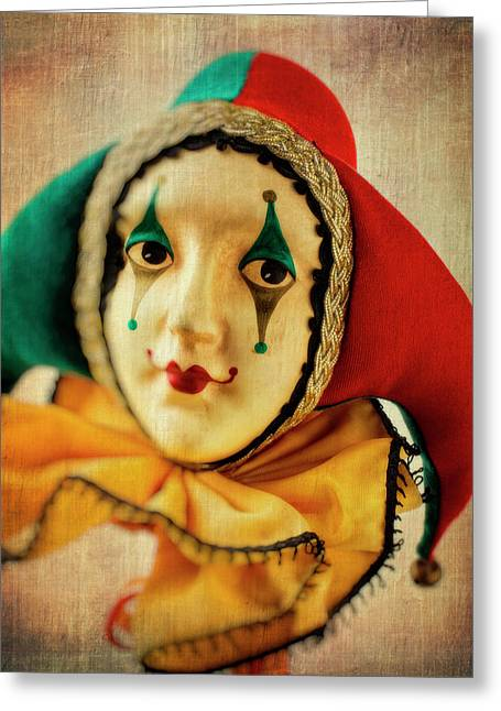 Romantic Jester Greeting Card by Garry Gay
