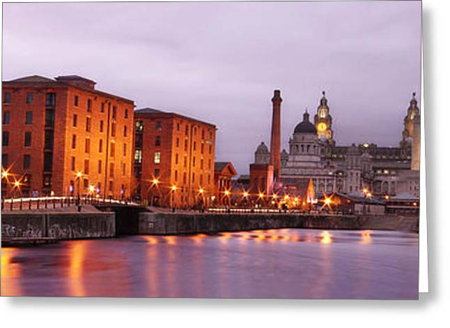 Romantic Liverpool Greeting Card by Sydney Alvares