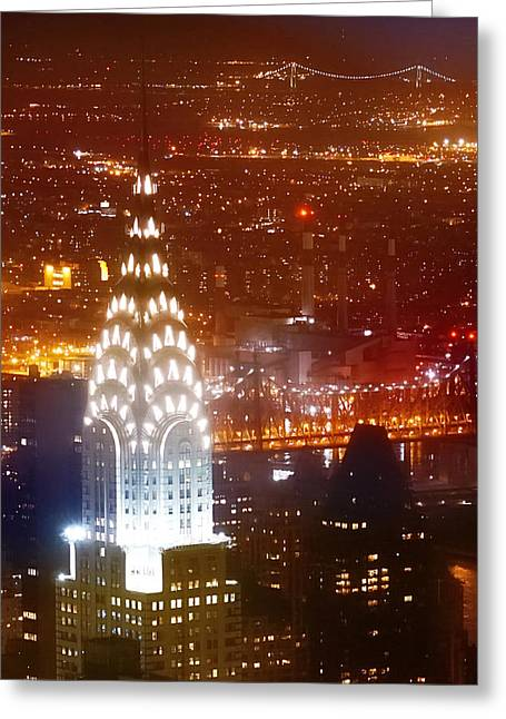 Art Of Building Greeting Cards - Romantic Manhattan Greeting Card by Az Jackson