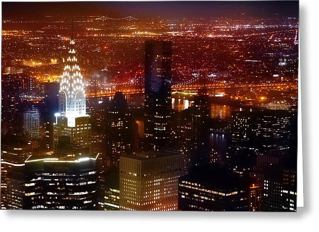 Art Of Building Greeting Cards - Romantic Skyline Greeting Card by Az Jackson