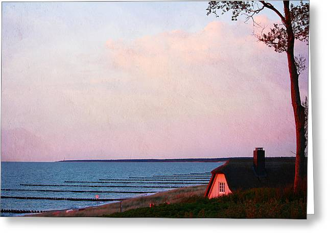 Summer Storm Greeting Cards - Romantic Sunset Greeting Card by Heike Hultsch