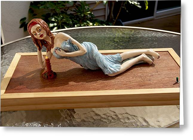 Pieces Sculptures Greeting Cards - Romantic Greeting Card by Yelena Rubin