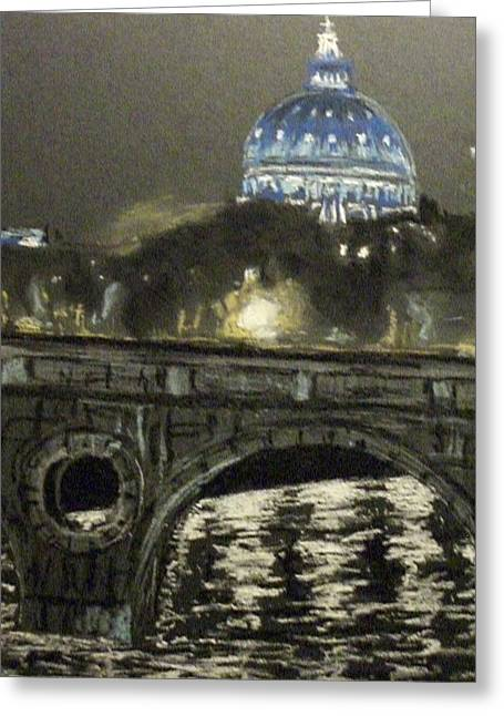 Luci Greeting Cards - Rome at night Greeting Card by Rita Bandinelli