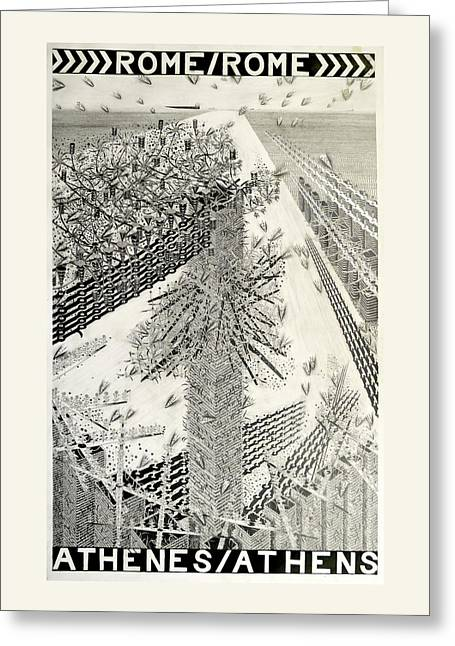 Rome Athens Greeting Card by  Hipkiss