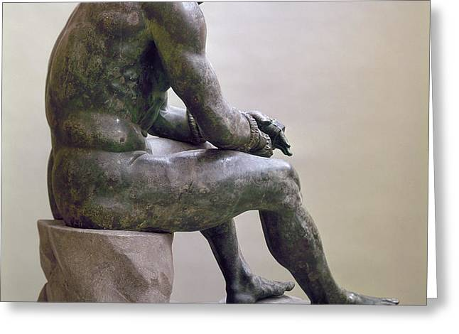 ROME BOXER SCULPTURE Greeting Card by Granger