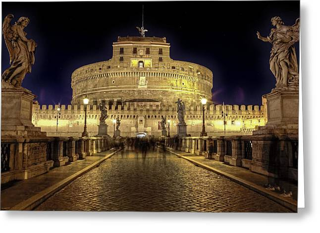 Castel Greeting Cards - Rome castel sant angelo Greeting Card by Joana Kruse