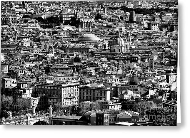 Seen Greeting Cards - Rome Cityscape 4 Greeting Card by John Rizzuto