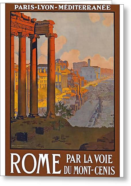 Rome Mixed Media Greeting Cards - Rome Greeting Card by David Wagner
