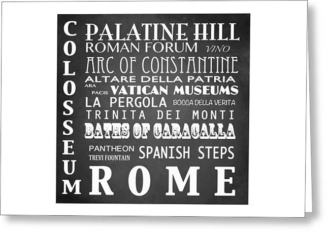 Caracalla Greeting Cards - Rome Famous Landmarks Greeting Card by Patricia Lintner