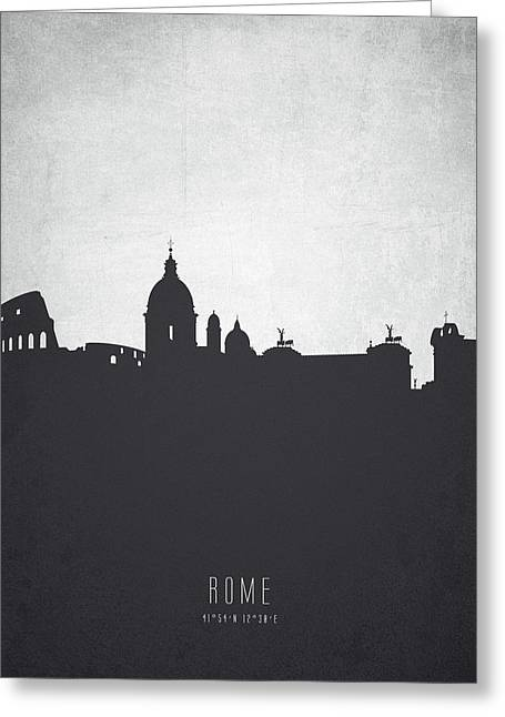 Rome Italy Cityscape 19 Greeting Card by Aged Pixel