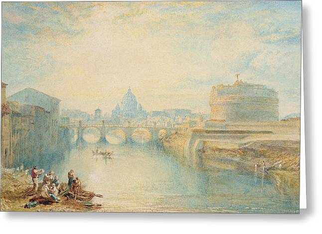 On Paper Paintings Greeting Cards - Rome Greeting Card by Joseph Mallord William Turner