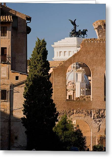 Rome Layers 1 Greeting Card by Art Ferrier