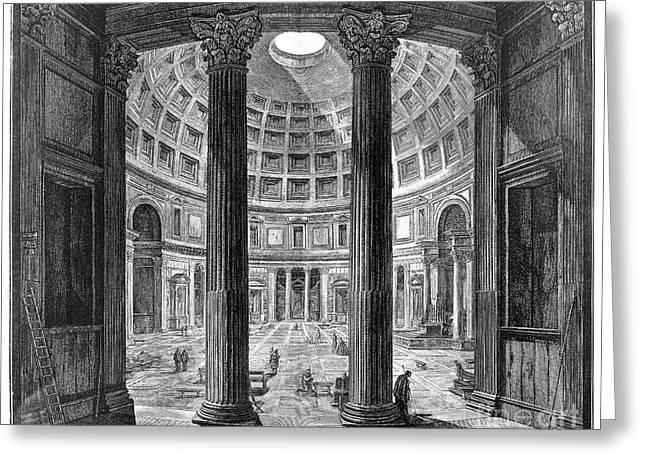 Oculus Greeting Cards - Rome: Pantheon Greeting Card by Granger