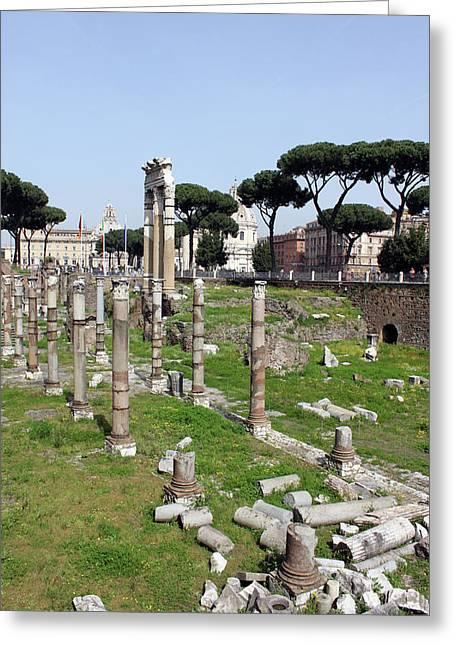 Rome Greeting Cards - Rome Ruins Greeting Card by Munir Alawi