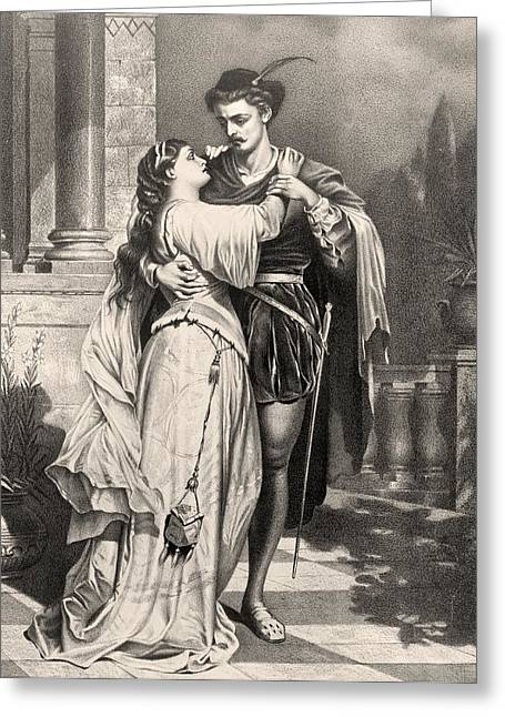 Juliet Greeting Cards - Romeo And Juliet After A 19th Century Greeting Card by Ken Welsh