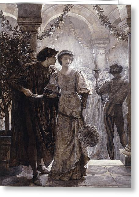 Romeo And Juliet Greeting Card by Frank Dicksee