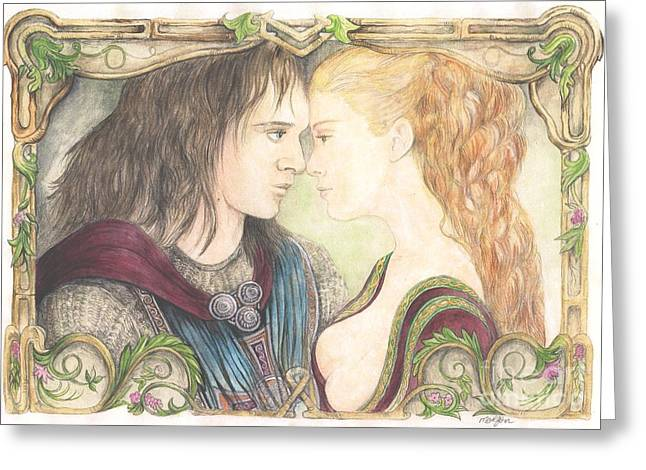 Romance Mixed Media Greeting Cards - Romeo and Juliet Greeting Card by Morgan Fitzsimons